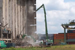 Demolition of a cattle food factory