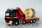 DAF CF with Hiab knuckleboom crane