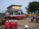 Verplaatsen van een monumentaal tankstation